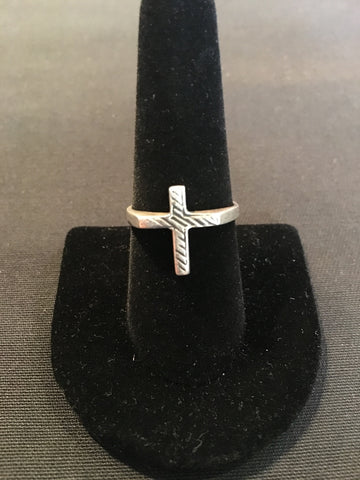 Vintage Silver Cross Ring