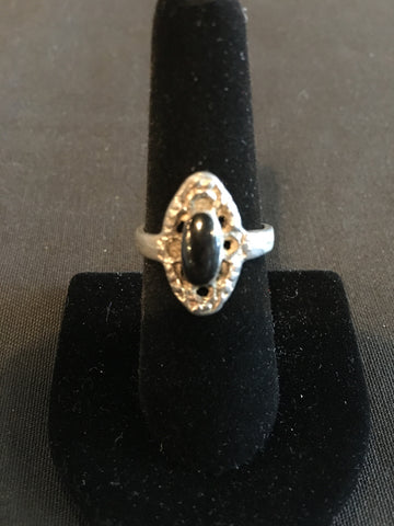 Silver Obsidian Ring
