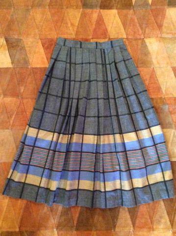 Vintage Stripped Midi Skirt