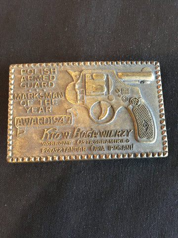 Vintage Armed Guard Belt Buckle