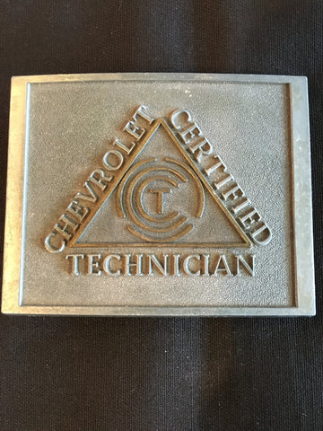 Vintage Chevrolet Certified Technician Belt Buckle