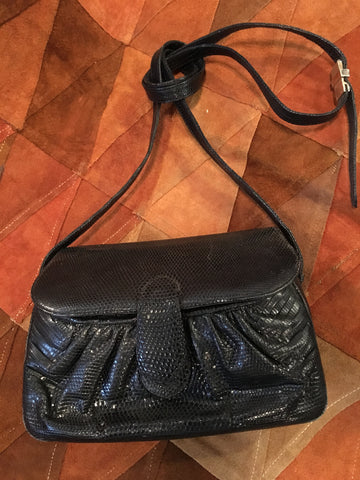 Vintage Judith Leiber Black Crossbody Purse