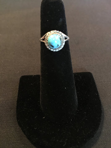 Vintage Turquoise Pyramid Ring