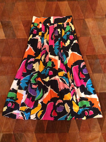 Vintage Abstract Midi Skirt
