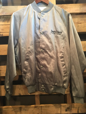 Vintage Gray Lady Luck Casino Jacket
