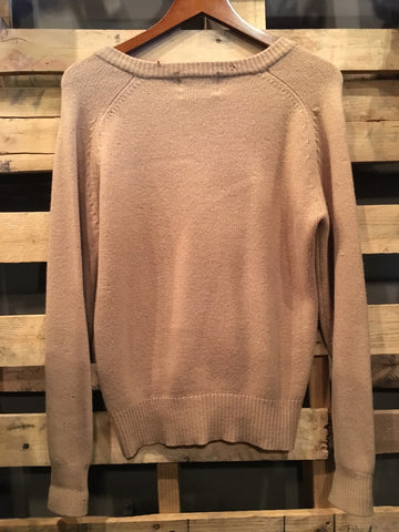 Vintage Tan Pure Wool Knit Sweater