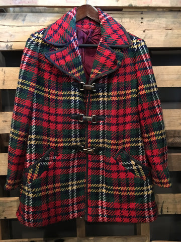 Vintage Plaid with Gold Clasps Jacket
