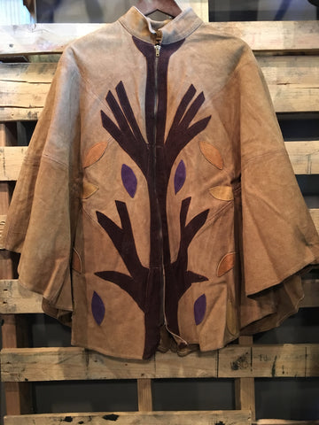 1970's Leather Poncho