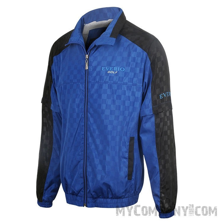men's windproof / waterproof zipper golf jacket