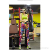 Women's Multi Coloured Sports Leggings