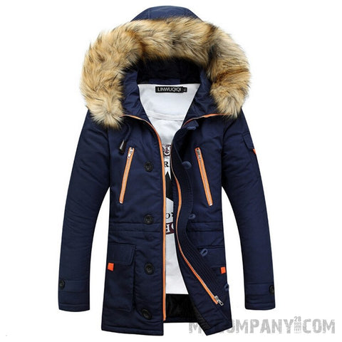 Patchwork Mens Padded Coat