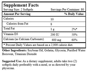 Liquid Calcium (160 Softgels/ 300 mg)