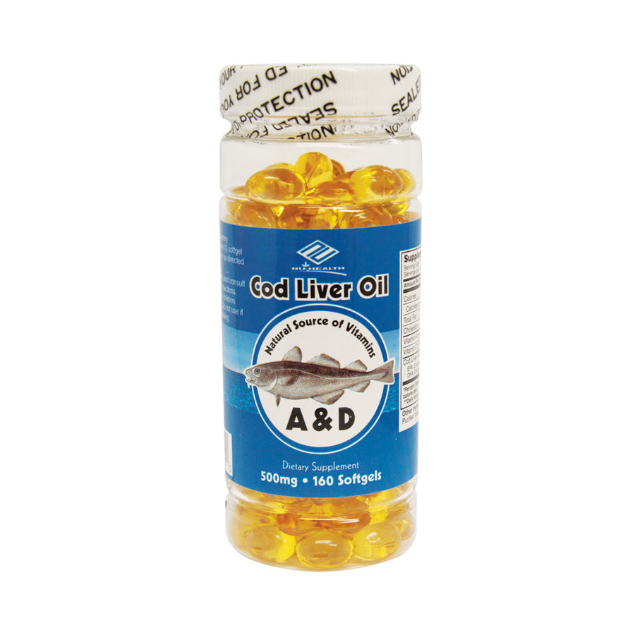 Cod Liver Oil (160 Softgels / 500 mg)