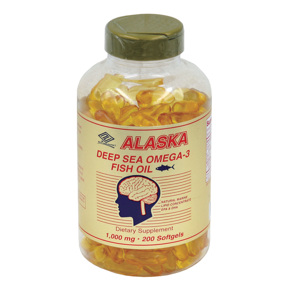 Nu-Health Products Alaska Deep Sea Fish Oil (200 Softgels / 1,000 mg)