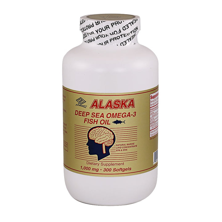 Alaska Deep Sea Fish Oil (300 Softgels / 1,000 mg)