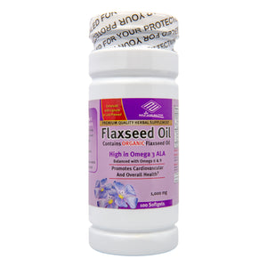 Flaxseed Oil (100 Softgels/ 1,000 mg)