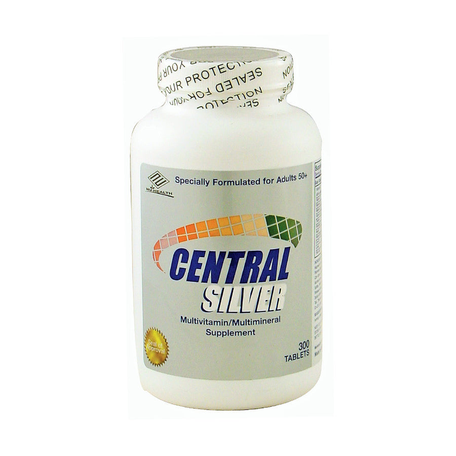 Nu-Health Products Central Silver Senior Multivitamin 300 Tablets