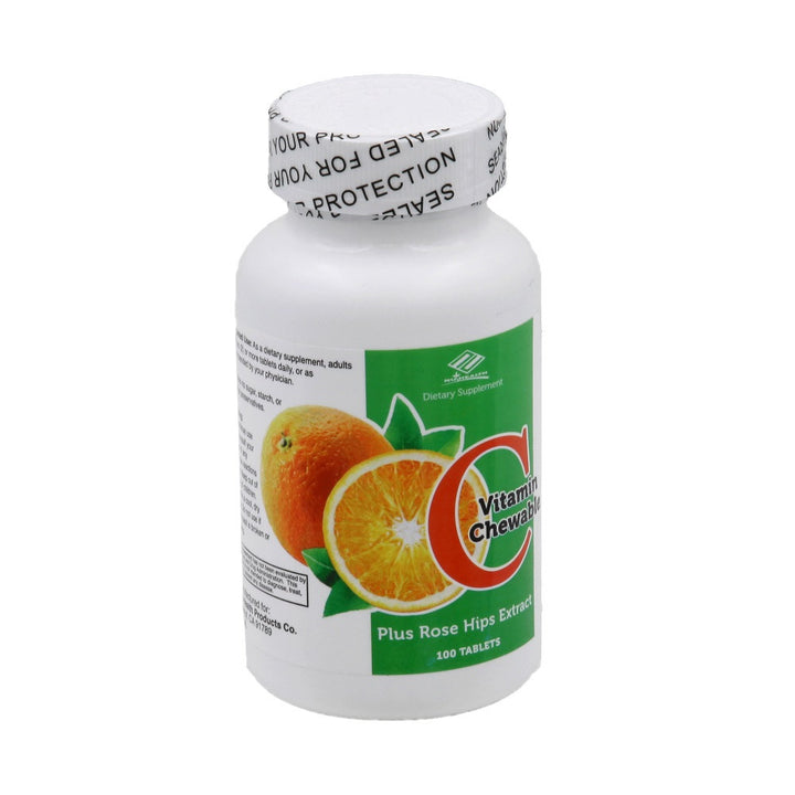 Vitamin C + Rosehips Chewable (100 Tablets)