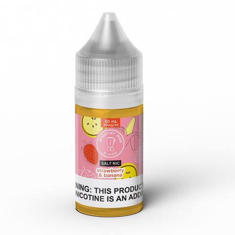 Smoothy Man: Strawberry Banana Salt Nic ICE 30ml