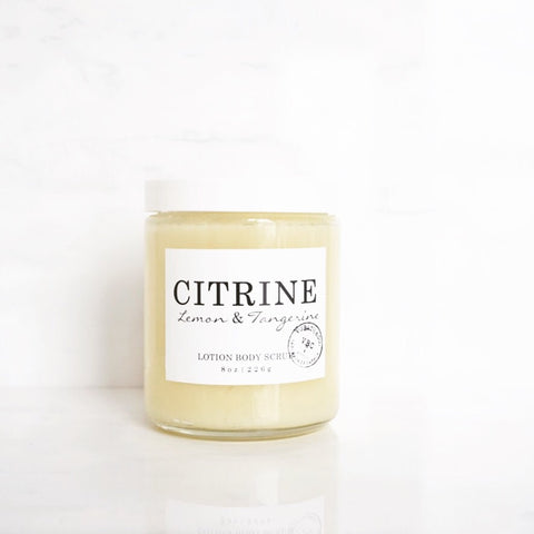 CITRINE LOTION BODY SCRUB