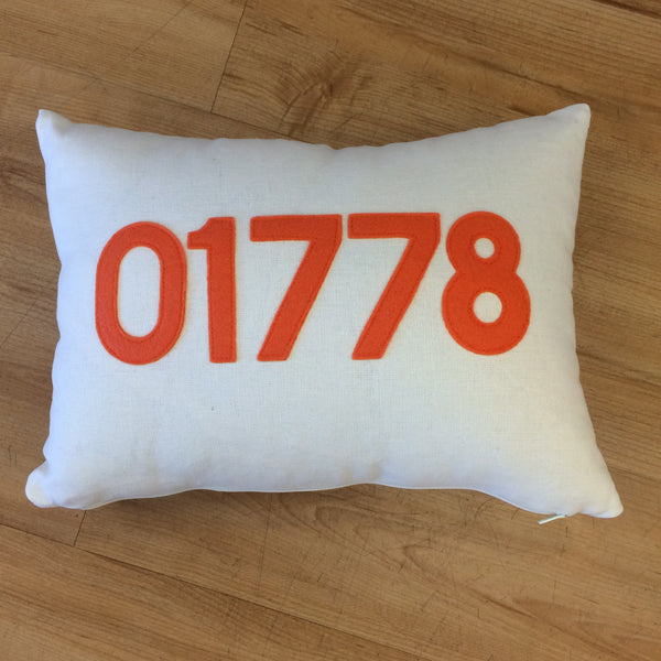 Wayland 01778 Zip Code Pillow