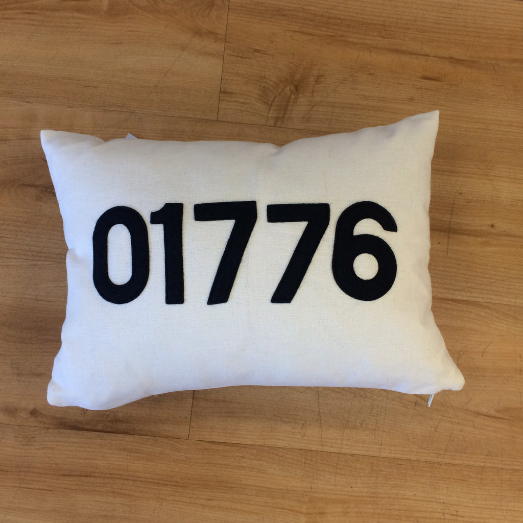 Sudbury 01776 Zip Code Pillow