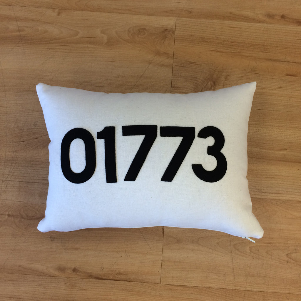 Lincoln 01773 Zip Code Pillow