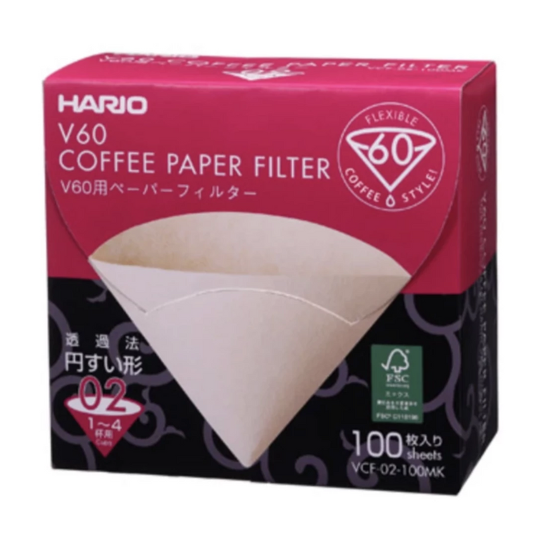 Hario V60 Coffee Filters - 100 count