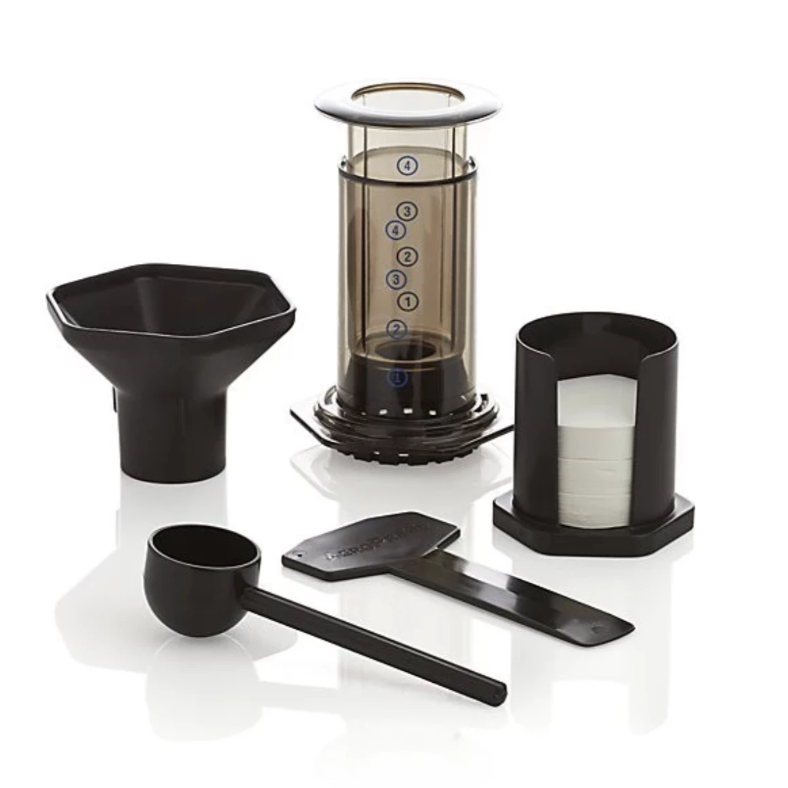 Aeropress and filters for RoosRoast Coffee