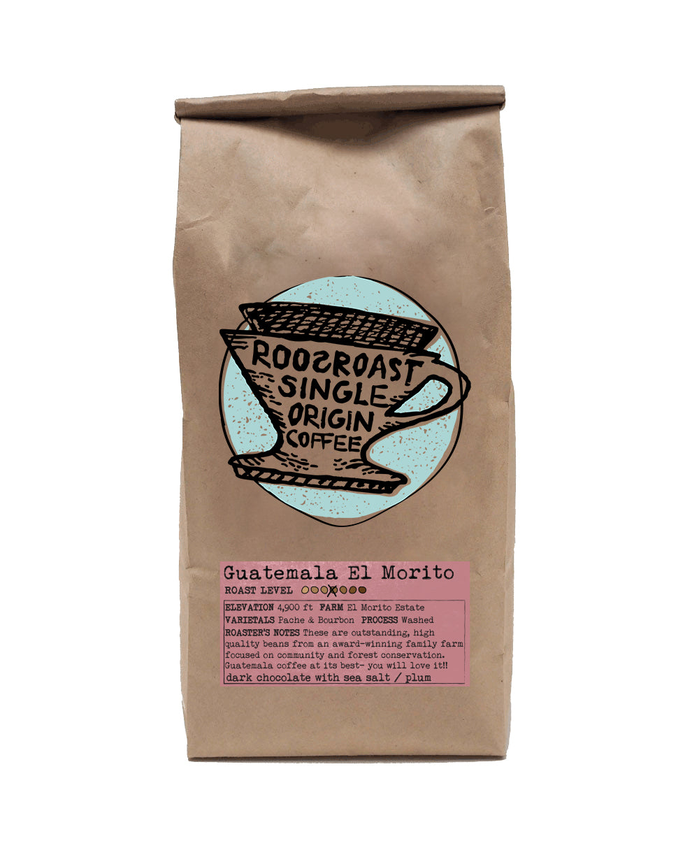 Coffee beans Guatemala El Morito single origin. RoosRoast coffee 12 oz.