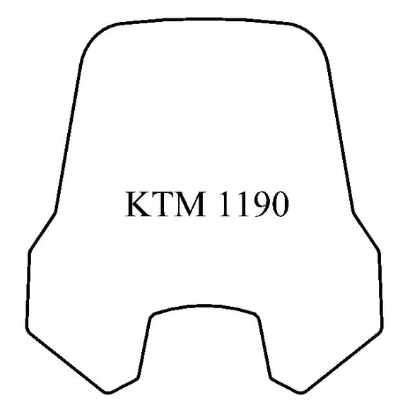 KTM 1190 Windshield - MadStad Engineering