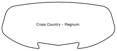 Cross Country Magnum Style Windshield - MadStad Engineering