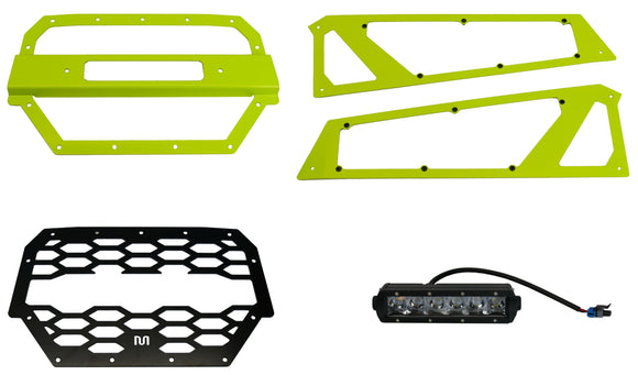 RZR Front LED Grille and Headlight Protector Kit - MadStad Engineering