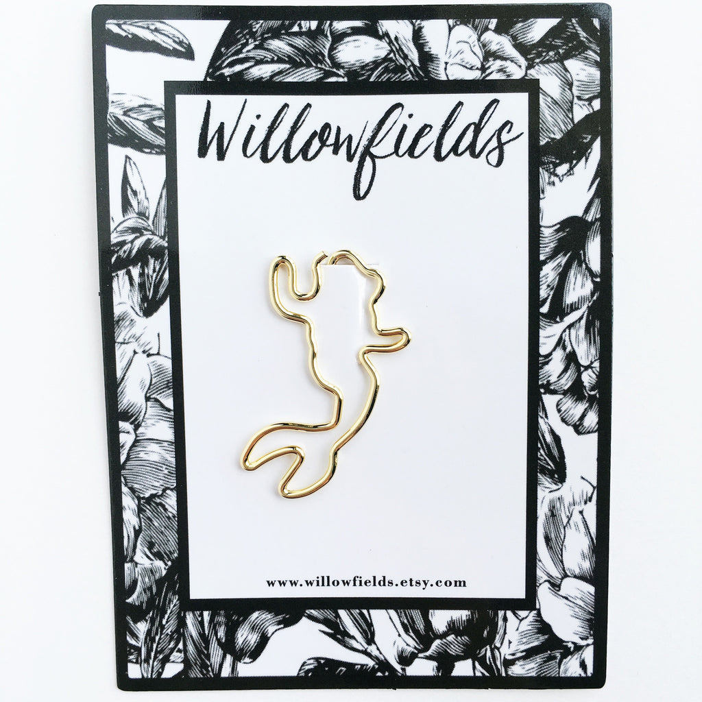 Gold Mermaid Planner Clip - willowfields