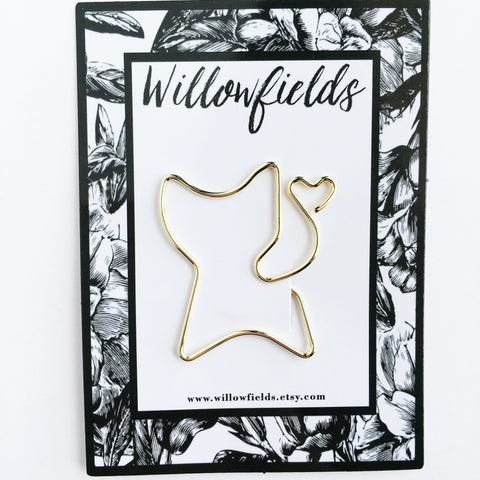 SALE || Gold Cat Planner Clip - willowfields