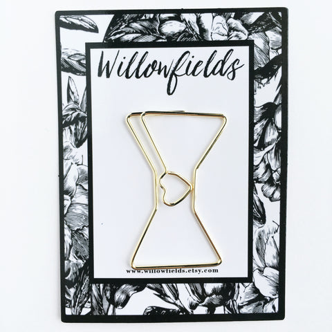 Gold Bow Planner Clip - willowfields
