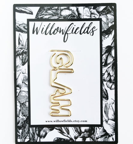 Gold GLAM Planner Clip - willowfields
