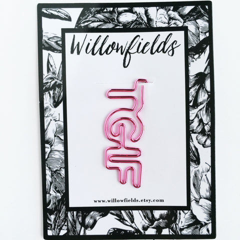 Pink TGIF Planner Clip - willowfields