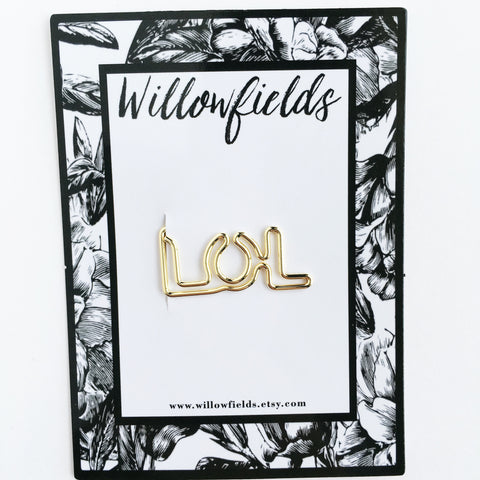 Gold LOL Planner Clip - willowfields