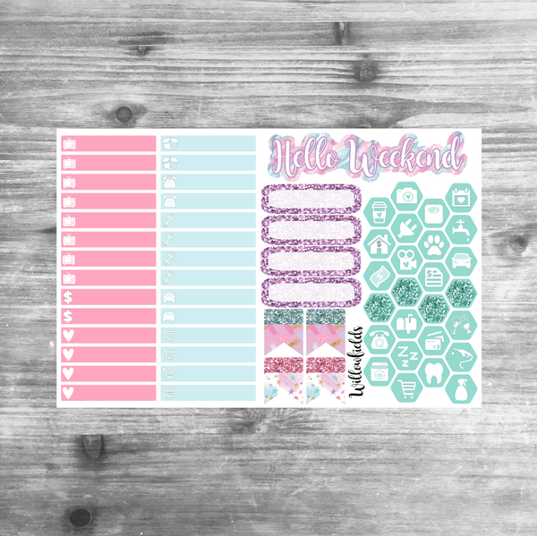 Pastel Bunny Kit || 8 Full Sheets - willowfields