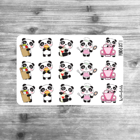 Panda Set 1 || Critter Cuties || MATTE - willowfields