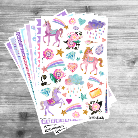 Unicorn Kit || 8 Full Sheets - willowfields