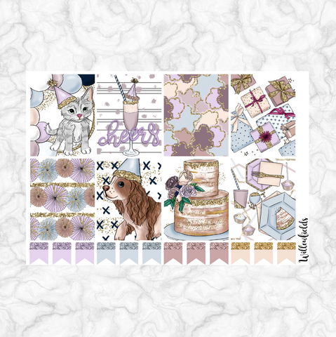Celebrate EC Vertical Squares || 20 stickers