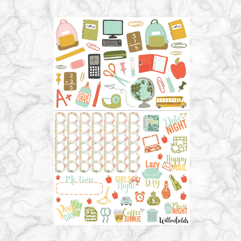 Back to School Decorative || 50+ stickers