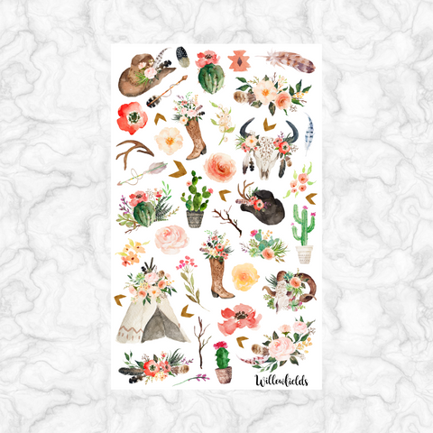 Boho Chic Decorative || 40+ stickers