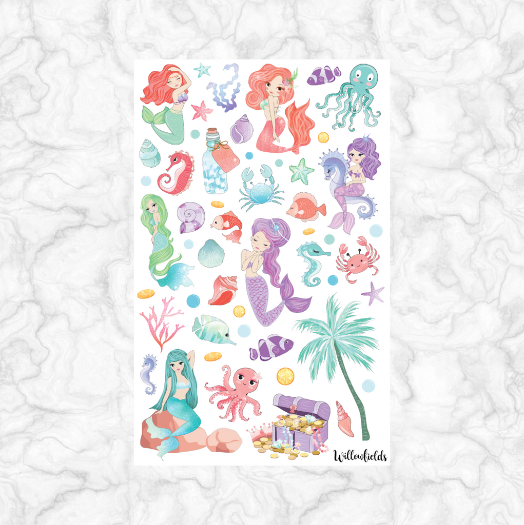 Mermaid Decorative || 40+ stickers