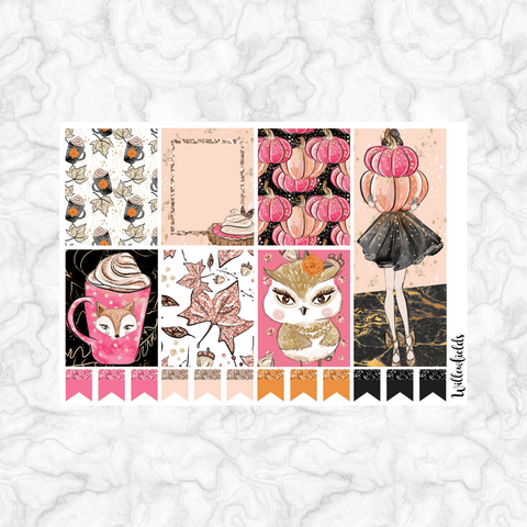 Woodland Blush EC Vertical Squares || 20 stickers