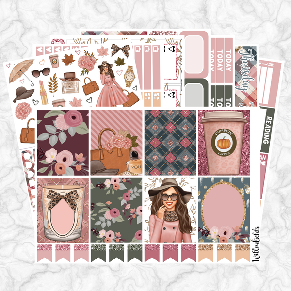 CINNAMON ROSE Kit || 8 Full Sheets - willowfields