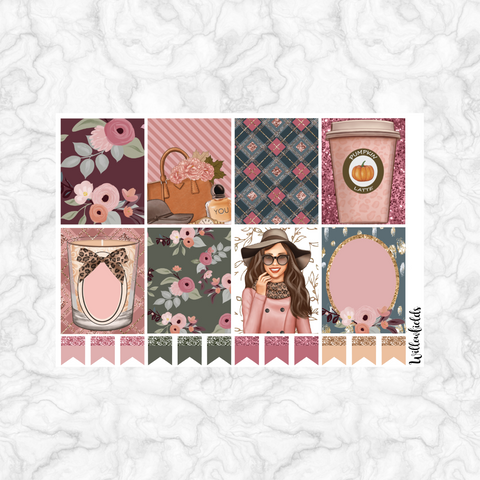 Cinnamon Rose EC Vertical Squares || 20 stickers