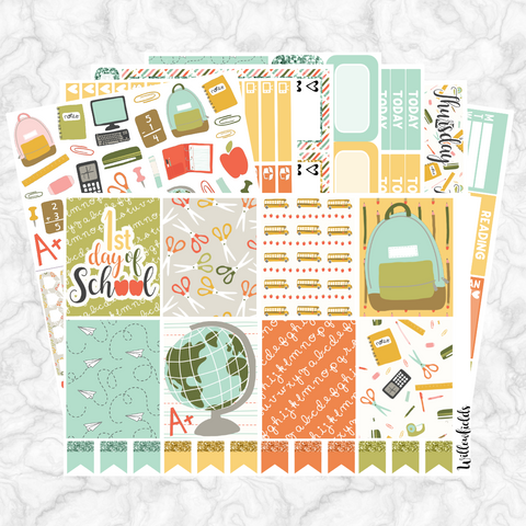BACK TO SCHOOL Kit || 8 Full Sheets - willowfields